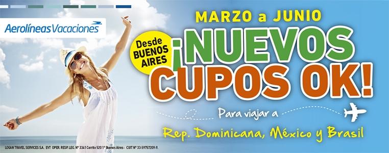 CUPOS AR VACACIONES
