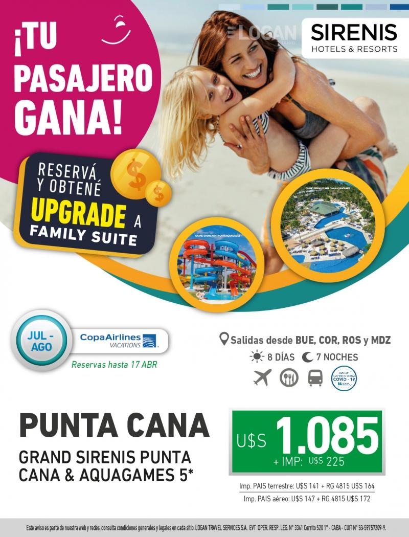 Tu Pasajero Gana: Grand Sirenis Punta Cana & Aquagames