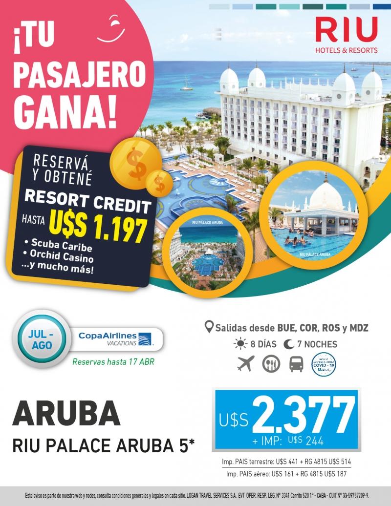 Tu Pasajero Gana: Riu Palace Aruba