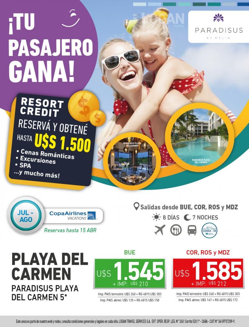 Tu Pasajero Gana: Paradisus Playa del Carmen
