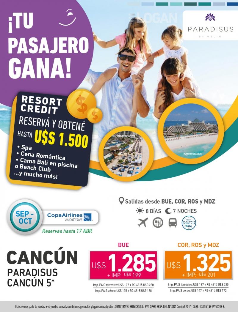 Tu Pasajero Gana: Paradisus Cancún
